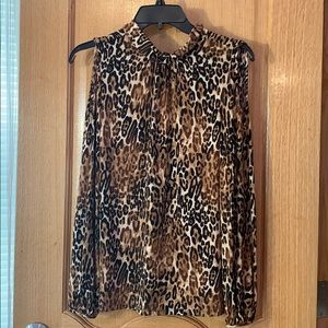 inc international concepts cheetah print blouse